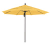 11 Foot Sunbrella 3A Fabric Aluminum Pulley Lift Patio Patio Umbrella with Bronze Pole