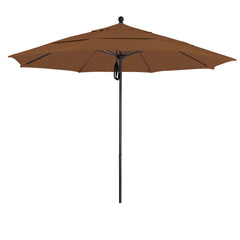 11 Foot Sunbrella 1A Fabric Aluminum Pulley Lift Patio Patio Umbrella with Bronze Pole
