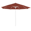 11 Foot Sunbrella 4A Fabric Aluminum Pulley Lift Patio Patio Umbrella with White Pole