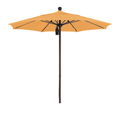 7 1/2 Foot Sunbrella 2A Fabric Aluminum Pulley Lift Patio Patio Umbrella with Bronze Pole