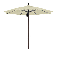 7 1/2 Foot Sunbrella 5A Fabric Aluminum Pulley Lift Patio Patio Umbrella with Bronze Pole
