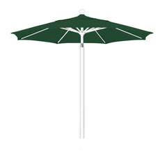 7 1/2 Foot Sunbrella 2A Fabric Aluminum Pulley Lift Patio Patio Umbrella with White Pole
