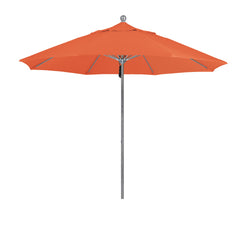 9 Foot 2A Sunbrella Fabric Aluminum Pulley Lift Patio Patio Umbrella with Silver Pole