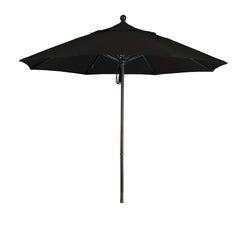 9 Foot 1A Sunbrella Fabric Aluminum Pulley Lift Patio Patio Umbrella with Bronze Pole