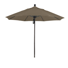 9 Foot 3A Sunbrella Fabric Aluminum Pulley Lift Patio Patio Umbrella with Bronze Pole