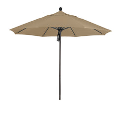 9 Foot 5A Sunbrella Fabric Aluminum Pulley Lift Patio Patio Umbrella with Bronze Pole
