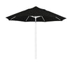 9 Foot 4A Sunbrella Fabric Aluminum Pulley Lift Patio Patio Umbrella with White Pole