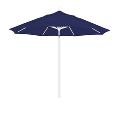 9 Foot 1A Sunbrella Fabric Aluminum Pulley Lift Patio Patio Umbrella with White Pole