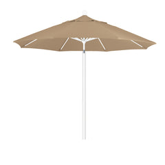 9 Foot 3A Sunbrella Fabric Aluminum Pulley Lift Patio Patio Umbrella with White Pole