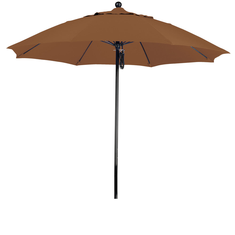 9 Foot Sunbrella 2A Fabric Complete Fiberglass Frame Pulley Lift Patio Patio Umbrella
