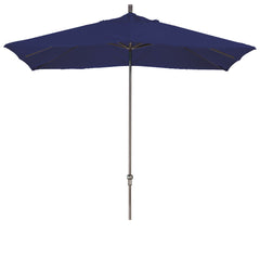 11 Foot Sunbrella 2A Fabric Rectangular Canopy Aluminum Crank Lift Patio Umbrella with Bronze Pole