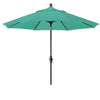 9 Foot Sunbrella 2A Fabric Aluminum Crank Lift Collar Tilt Patio Umbrella with Bronze Pole