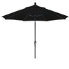 9 Foot Sunbrella 4A Fabric Aluminum Crank Lift Collar Tilt Patio Umbrella with Black Pole