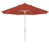 9 Foot Sunbrella 5A Fabric Aluminum Crank Lift Collar Tilt Patio Umbrella with Sand Pole