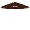 11 Foot Sunbrella 5A Fabric Fiberglass Rib Crank Lift Collar Tilt Aluminum Patio Umbrella with White Pole