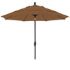 11 Foot Sunbrella 5A Fabric Fiberglass Rib Crank Lift Collar Tilt Aluminum Patio Umbrella with Black Pole