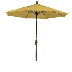 7 1/2 Foot Sunbrella 2A Fabric Fiberglass Rib Crank Lift Collar Tilt Aluminum Patio Umbrella with Bronze Pole