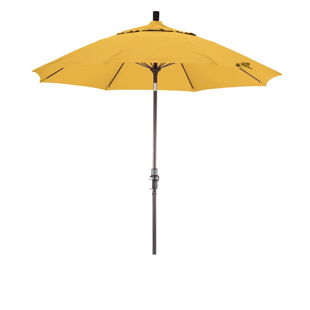 9 foot sunbrella 5a fabric fiberglass rib crank lift collar tilt aluminum patio umbrella with bronze