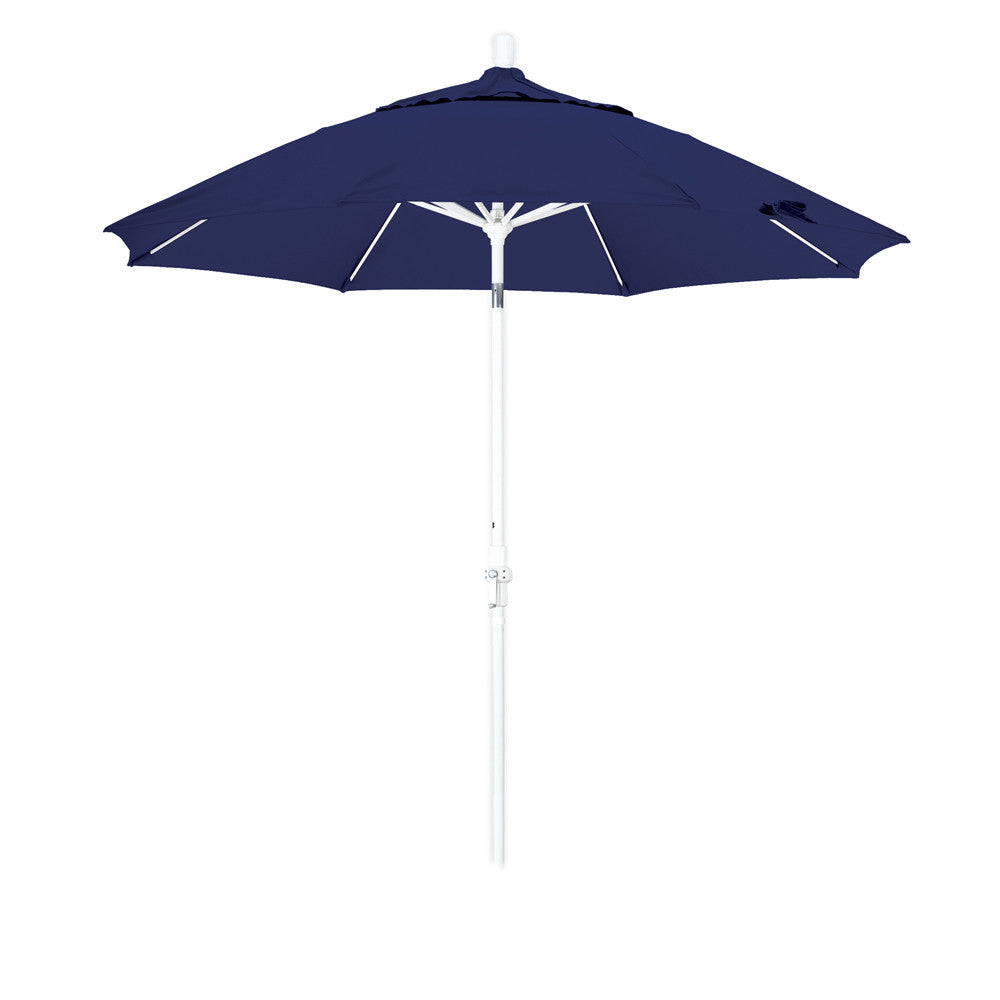 9 Foot Sunbrella 1A Fabric Fiberglass Rib Crank Lift Collar Tilt Aluminum Patio Umbrella with White ...  sc 1 st  Insideout-Products & 9u0027 1A Sunbrella Fabric Crank Lift Collar Tilt Aluminum Patio Umbrella