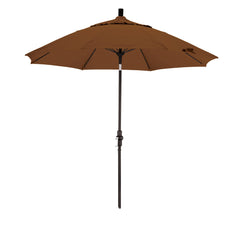 9 Foot Sunbrella 3A Fabric Fiberglass Rib Crank Lift Collar Tilt Aluminum Patio Umbrella with Black Pole