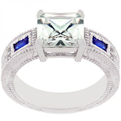 Prima Donna Sapphire Blue Cubic Zirconia Ring