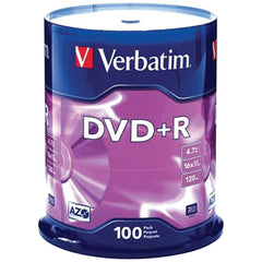 Verbatim 4.7gb Dvd+rs (100-ct Spindle)