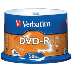 Verbatim 4.7gb Dvd-rs (50-ct Spindle)