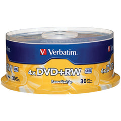 Verbatim 4.7gb 4x Dvd+rws 30-ct Spindle