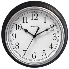 "Westclox 9"" Decorative Wall Clock (black)"