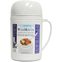 Royal Crown Wide-mouth Glass Vacuum Food Thermos (0.5 Liter)