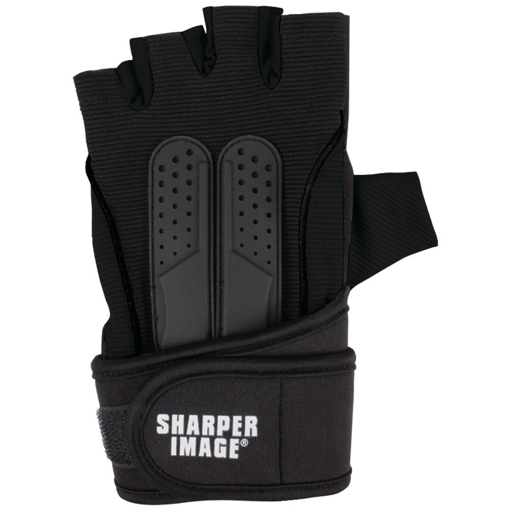 Sharper Image Fitness Gloves With Wrist Support (small; Black)