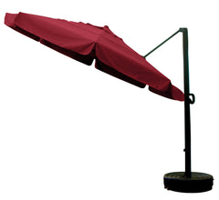 11' x 8 Rib Round Sunbrella 3A Fabric Cantilever Umbrella With Multi Position Tilt