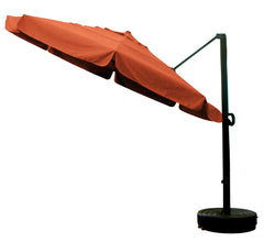 11' x 8 Rib Round Sunbrella 5A Fabric Cantilever Umbrella With Multi Position Tilt