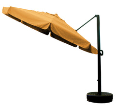 11' x 8 Rib Round Sunbrella 1A Fabric Cantilever Umbrella With Multi Position Tilt