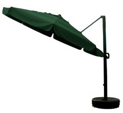 11' x 8 Rib Round Sunbrella 4A Fabric Cantilever Umbrella With Multi Position Tilt