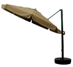 11' x 8 Rib Round Sunbrella 2A Fabric Cantilever Umbrella With Multi Position Tilt