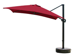 10 Foot Square Sunbrella 1A Fabric Cantilever Umbrella