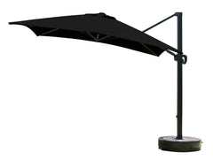 10 Foot Square Sunbrella 2A Fabric Cantilever Umbrella with Multi Positon Tilt