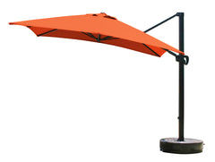 10 Foot Square Sunbrella 3A Fabric Cantilever Umbrella with Multi Positon Tilt