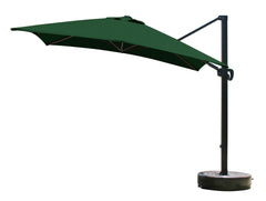 10 Foot Square Sunbrella 4A Fabric Cantilever Umbrella with Multi Positon Tilt