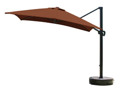 10 Foot Square Sunbrella 5A Fabric Cantilever Umbrella with Multi Positon Tilt
