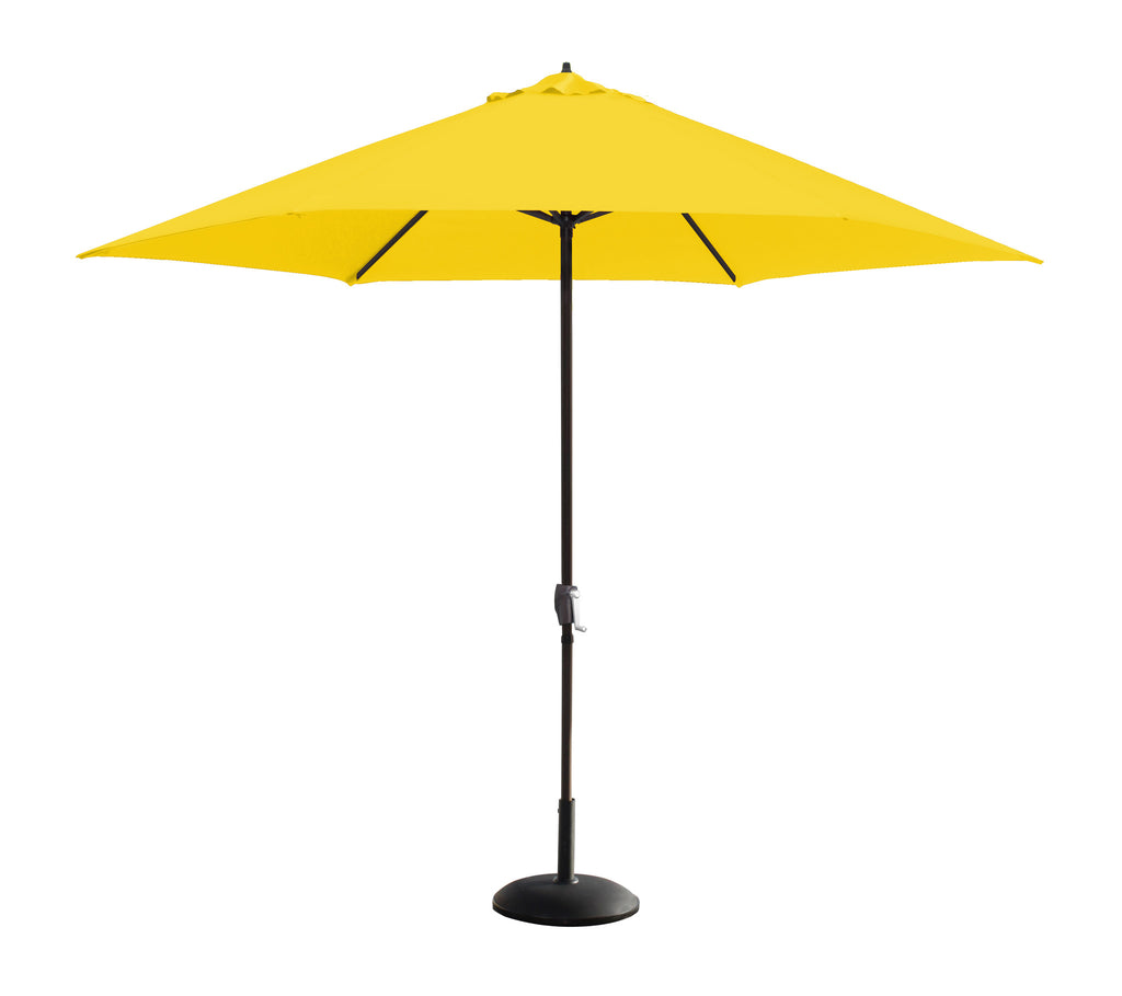 11 Foot Aluminum Market Umbrella, Crank Open in Bronze Pole with Outdoor Rated Polyester