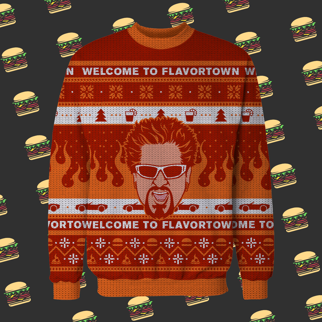 """Flavortown For The Holidays"" Sweater"