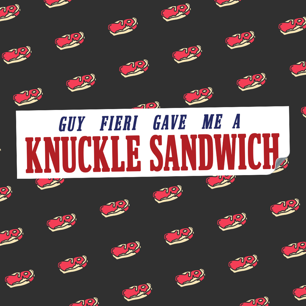 Guy Fieri Gave Me Bumper Sticker