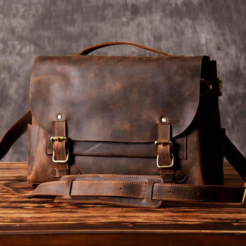 VINTAGE LEATHER BRIEFCASE 1920