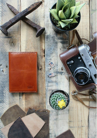 ITALIAN LEATHER PASSPORT WALLET