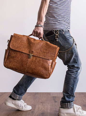 VINTAGE LEATHER MESSENGER BAG No.29