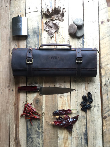 DEXTER - LEATHER CHEF KNIFE ROLL PRE-ORDER