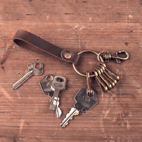 LEATHER KEYCHAIN BELT SNAP | EDC