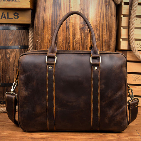 VINTAGE LEATHER BRIEFCASE 1921